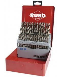RUKO KIERUKKAPORASARJA DIN 338 HSS Co5-KOBOLTTI 1.0-5.9 / 0.1mm