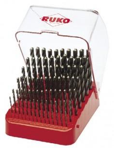 RUKO KIERUKKAPORASARJA DIN338 HSS HIOTTU 1.0-10.0 / 0.1mm
