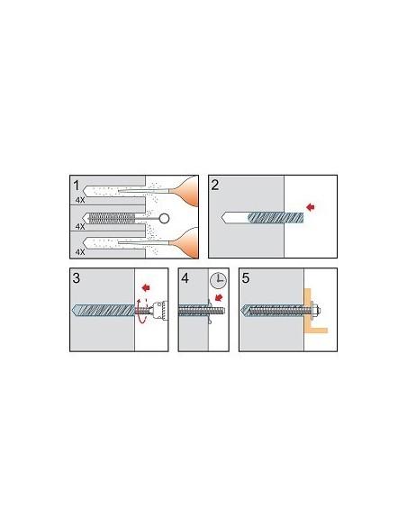 Kemiallinen ankkurointikapseli 16mm 10kpl CE OP.7