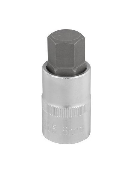 """Kuusiokolohylsy 1/2"""" S2 16mm P"""