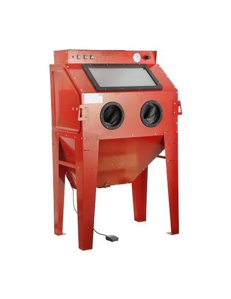 Hiekkapuhalluskaappi 1000x610x1630mm kiinteä/käsip.